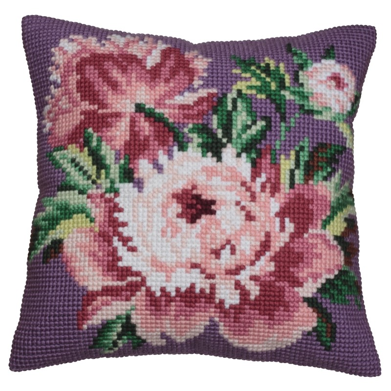 Collection D'Art Cabbage Rose Cross Stitch Kit