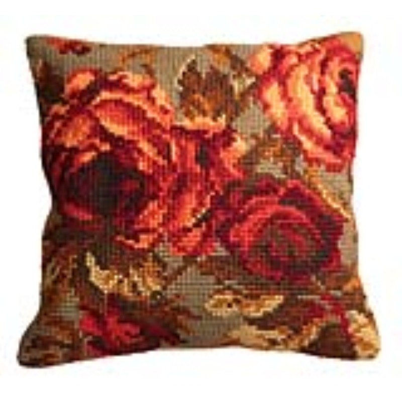 Collection D'Art Cabbage Roses II Cross Stitch Kit