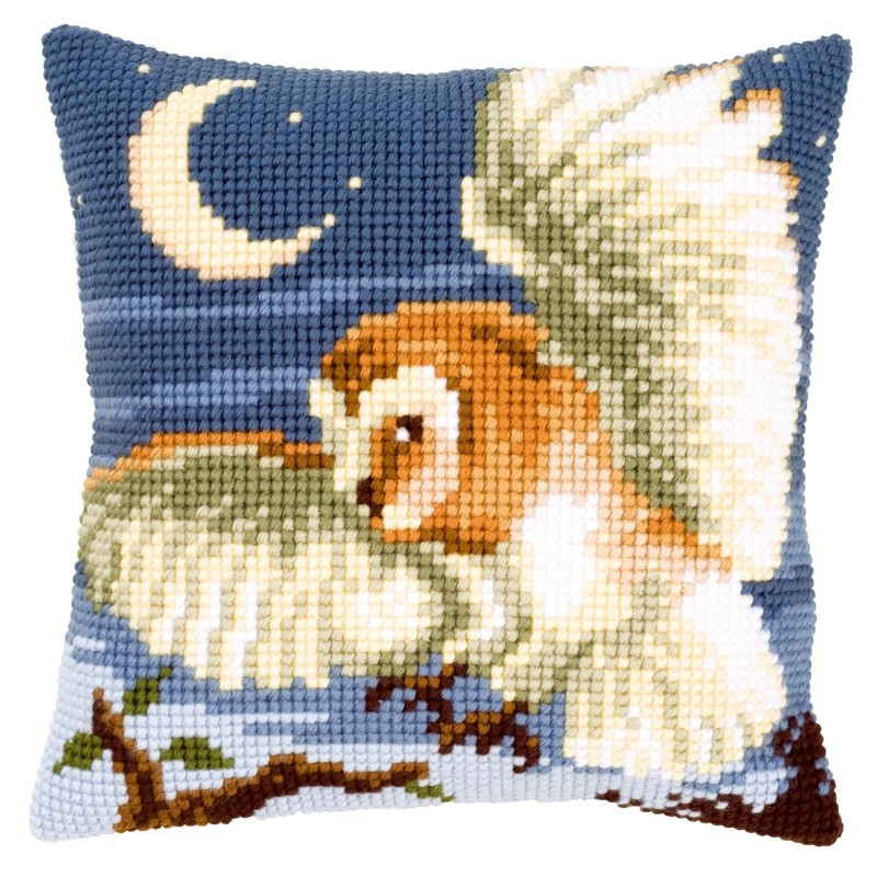 Vervaco Owl Cushion Cross Stitch Kit
