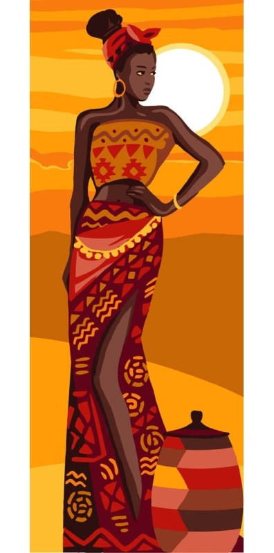 African Beauty -  Tapestry Canvas