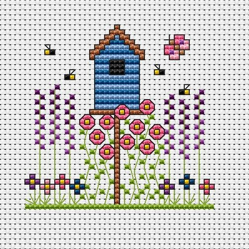 Birdhouse Card -  Cross Stitch Kit