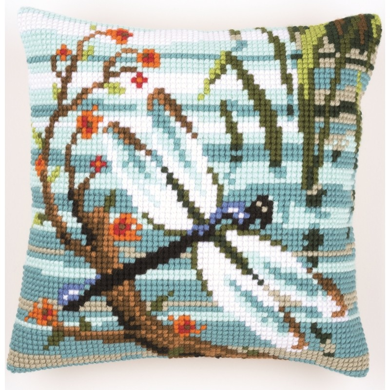 Vervaco Dragonfly Cushion Cross Stitch Kit