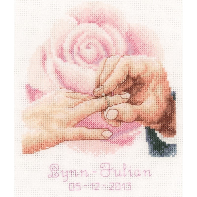 With this Ring Wedding Record -  Cross Stitch Kit