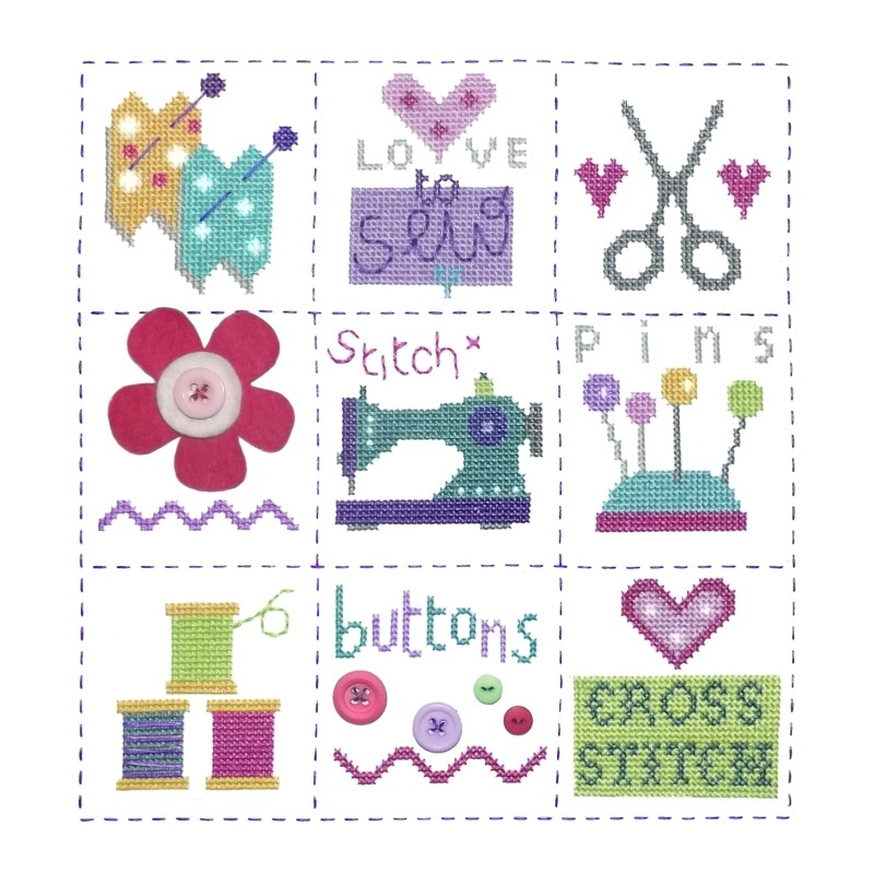 Sewing Sampler -  Cross Stitch Kit