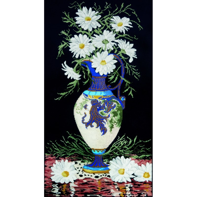 Design Works Crafts Daisies in Vase Cross Stitch Kit