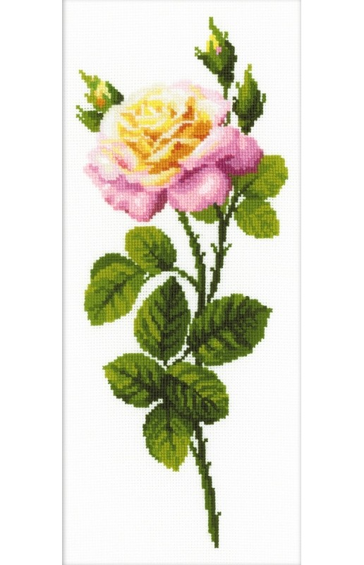 RIOLIS Wonderful Rose Cross Stitch Kit