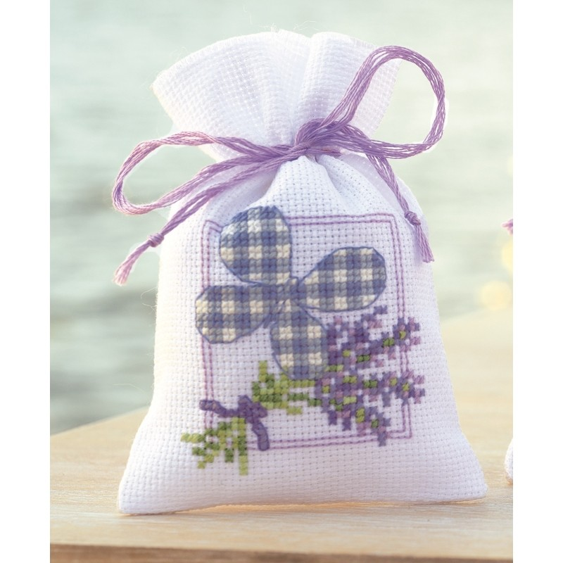 Vervaco Lavender Butterfly Bag Cross Stitch Kit