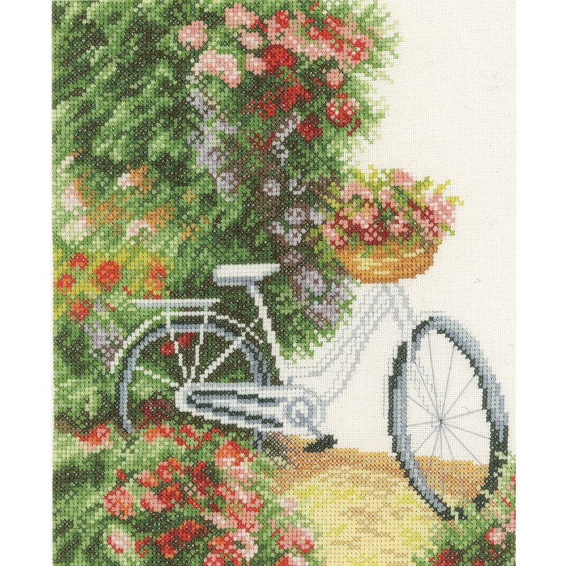 My Bicycle - Evenweave -  Cross Stitch Kit