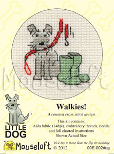 Mouseloft Walkies! Cross Stitch Kit