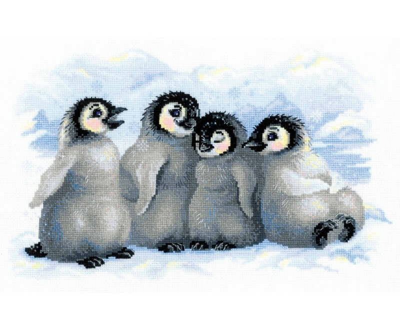 Funny Penguins -  Christmas Cross Stitch Kit