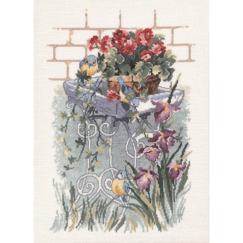 Garden Birds - Aida -  Cross Stitch Kit