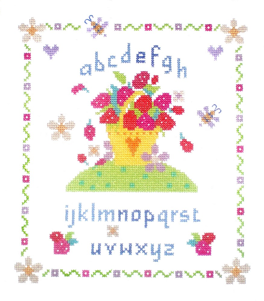 Strawberry Fayre -  Cross Stitch Kit