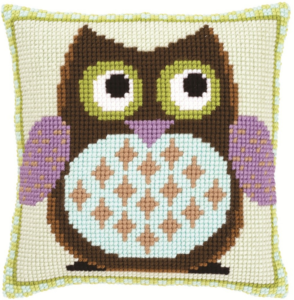 Vervaco Mister Owl Cushion Cross Stitch Kit
