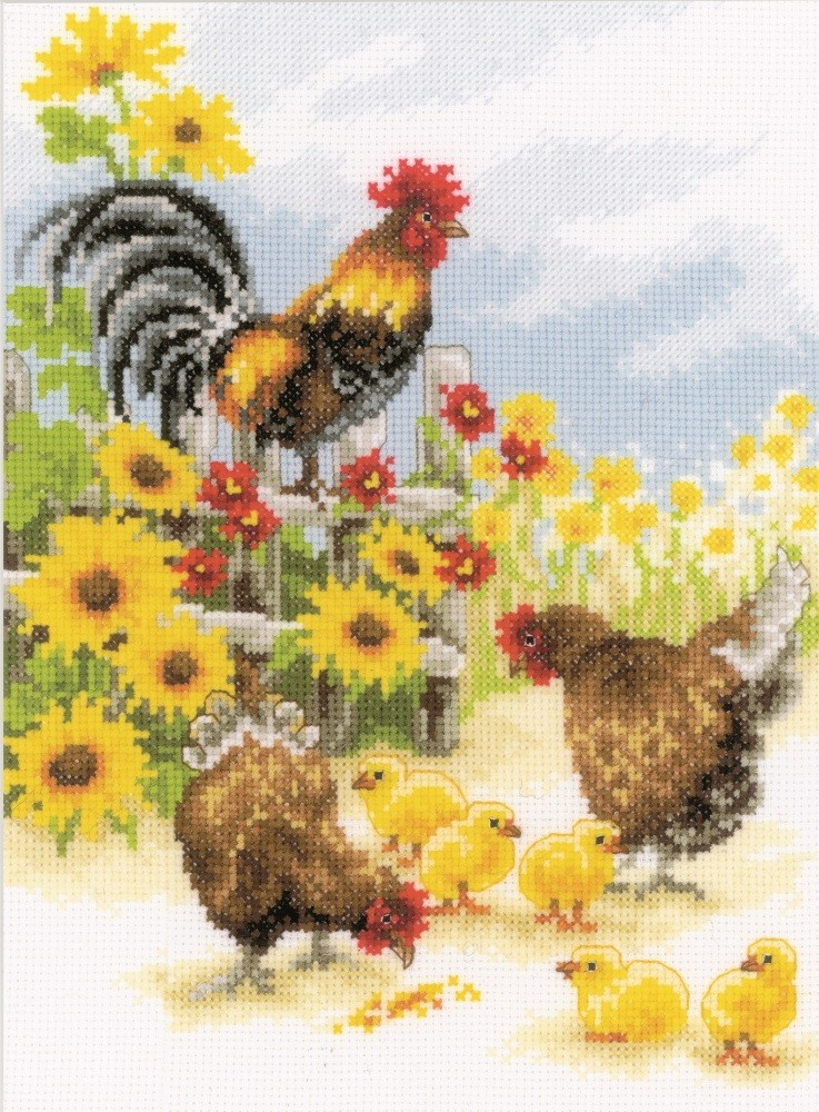 Vervaco Cock-a-Doodle-Doo Cross Stitch Kit