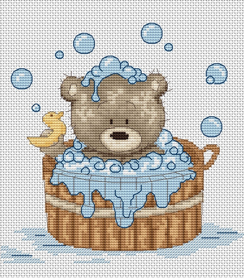 Luca-S Bubble Bath with Duck Cross Stitch Kit