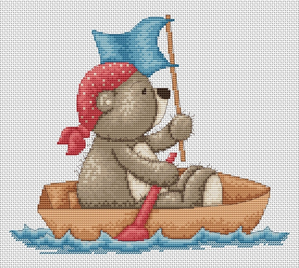 Luca-S Pirate Bruno Cross Stitch Kit