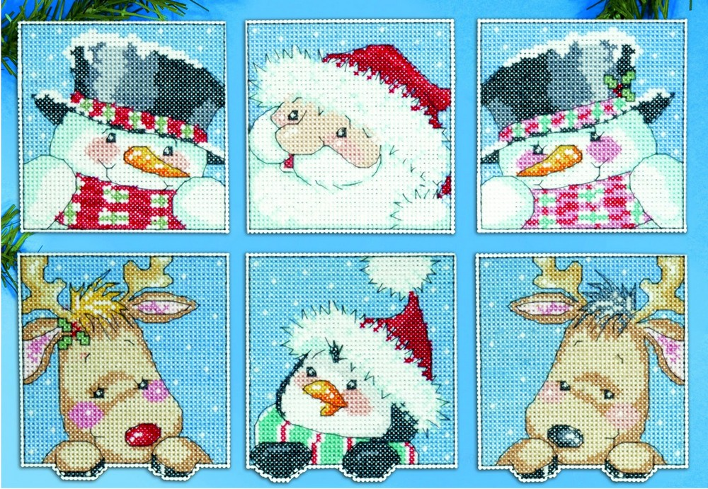 Design Works Crafts Funny Friends Ornaments Christmas Cross Stitch Kit