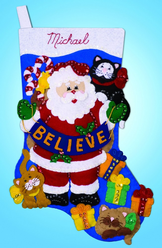 Design Works Crafts Believe Felt Stocking Craft Kit