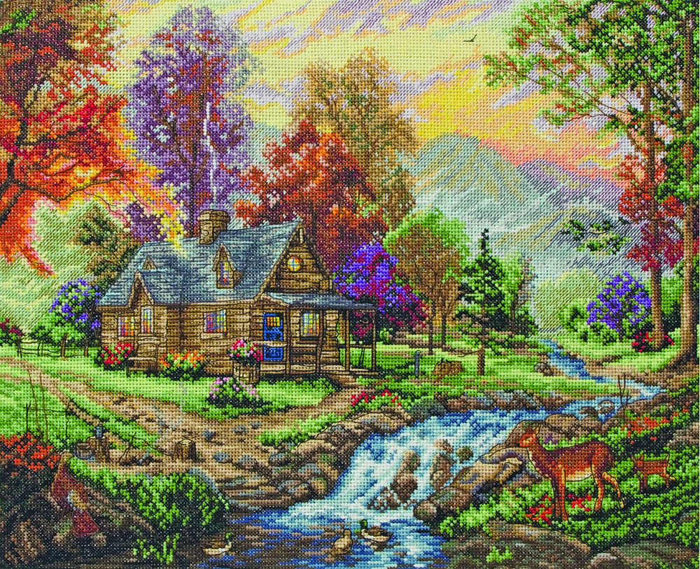 Maia Mountain Retreat Cross Stitch Kit