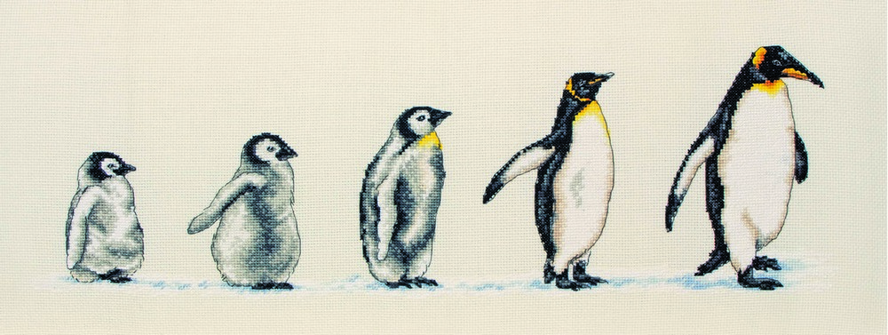Anchor Penguins in a Row Cross Stitch Kit