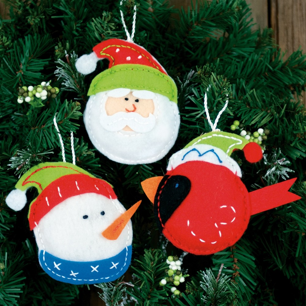 Dimensions Holiday Trio Ornaments Craft Kit