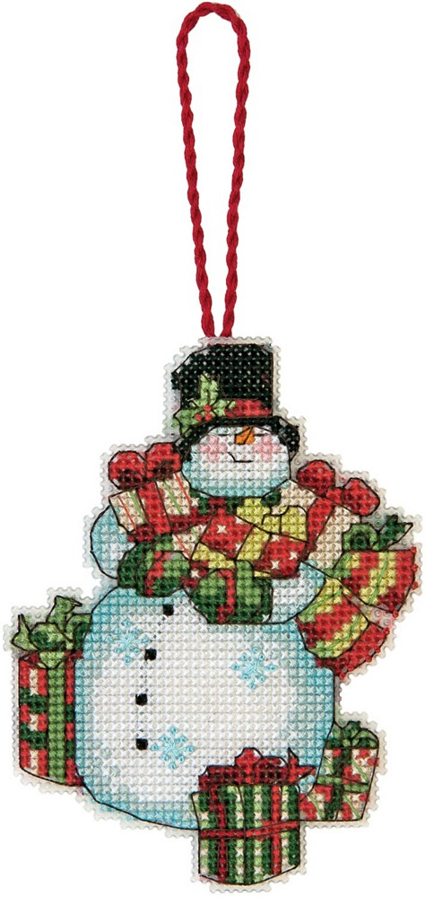 Snowman Ornament -  Christmas Cross Stitch Kit