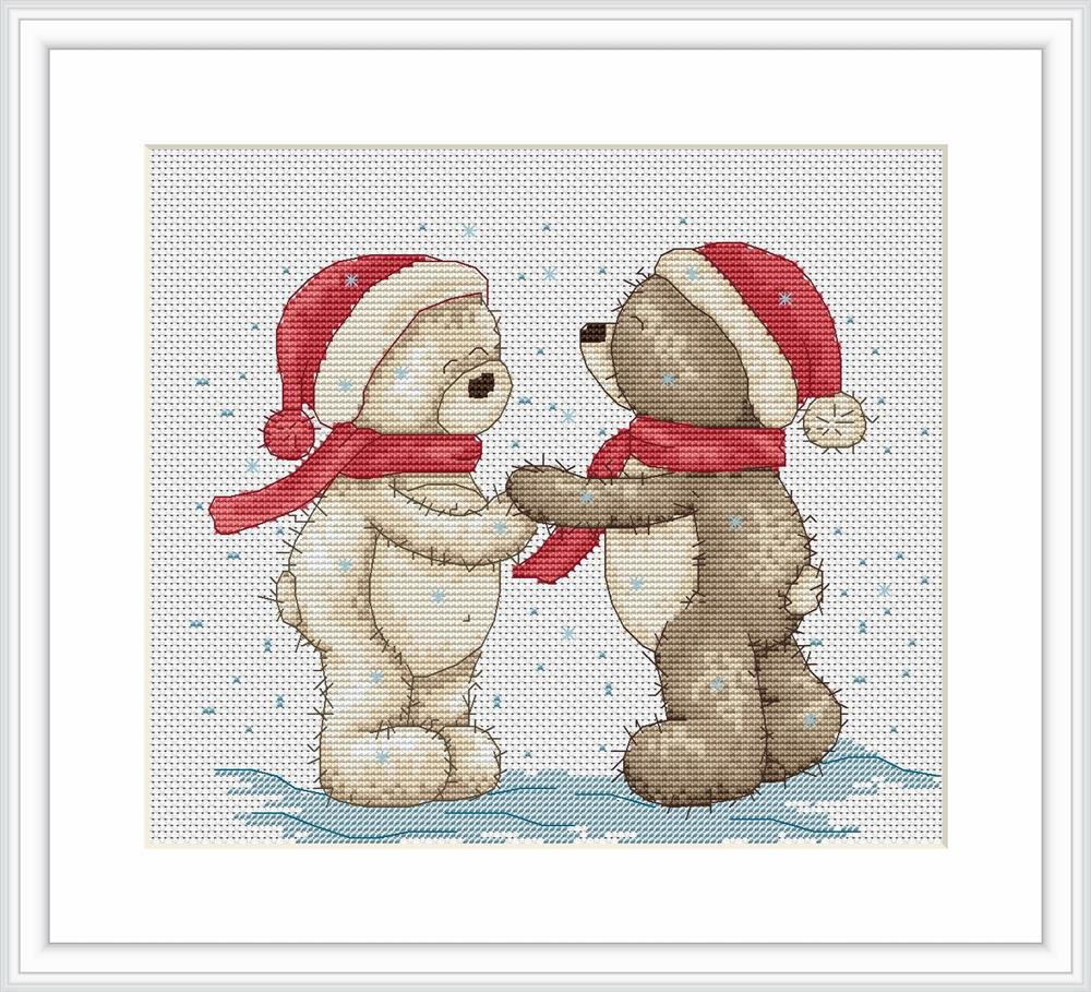 Luca-S Bruno and Bianca in the Snow Cross Stitch Kit