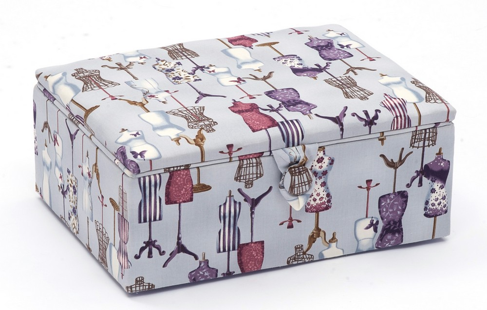 Hobby Gift Dressmakers Sewing Box/Stool Large