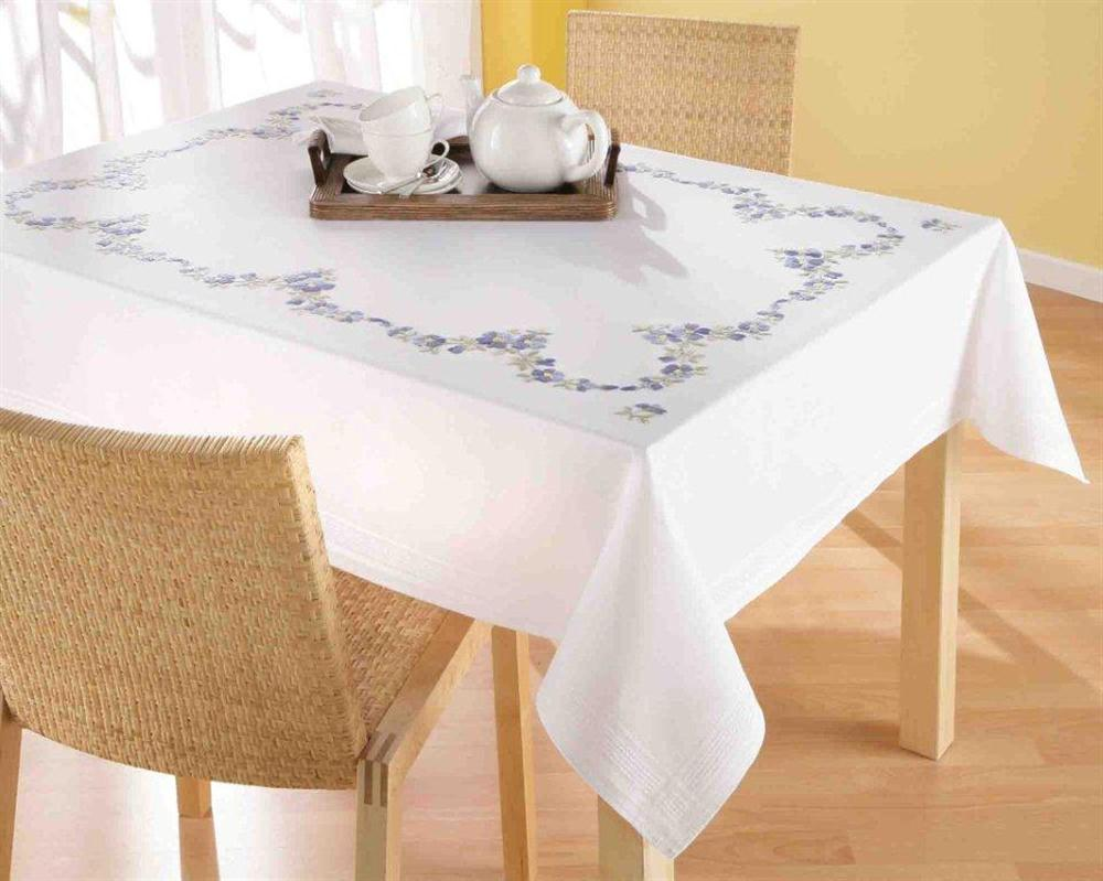 Forget-Me-Not Large Tablecloth -  Embroidery Kit