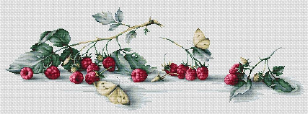 Luca-S Raspberries Cross Stitch Kit