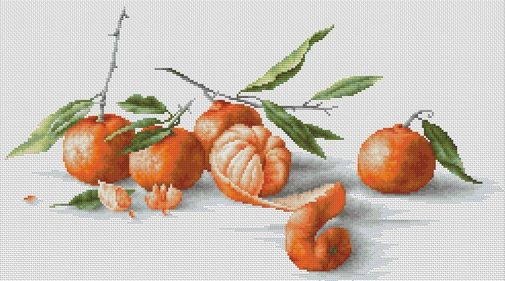 Luca-S Tangerines Cross Stitch Kit