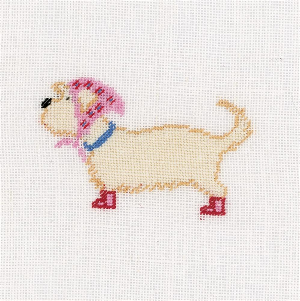 Dog and Scarf -  Cross Stitch Kit