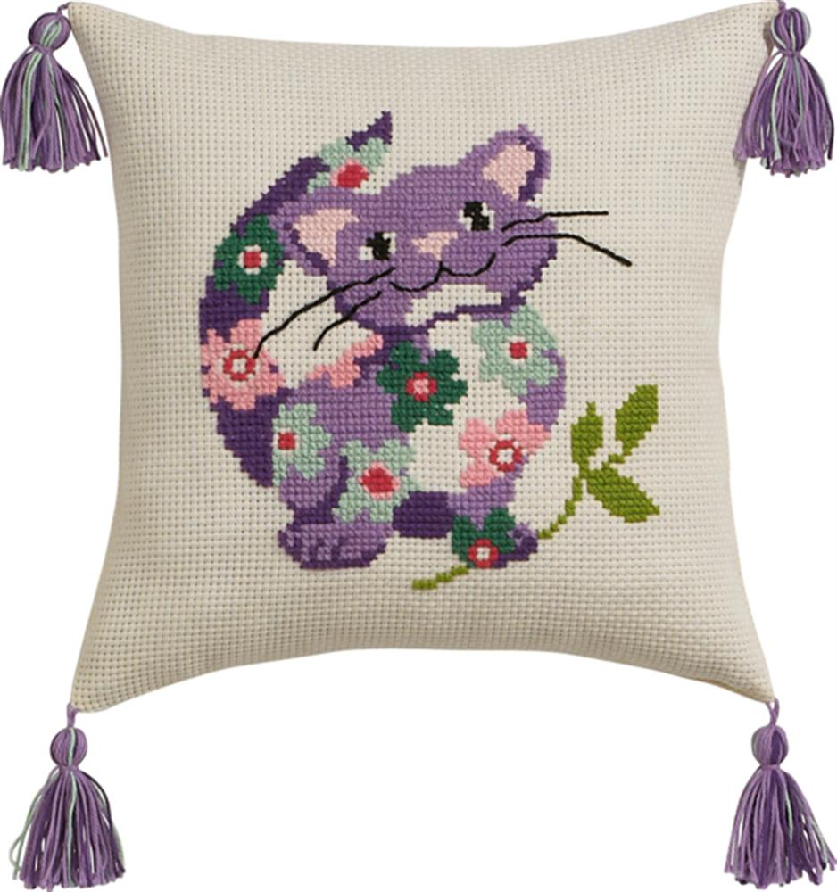 Permin Cat Cushion Cross Stitch Kit
