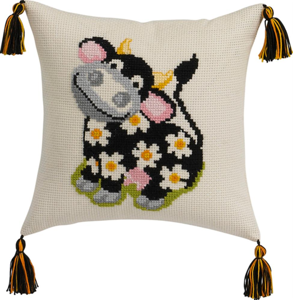 Permin Cow Cushion Cross Stitch Kit