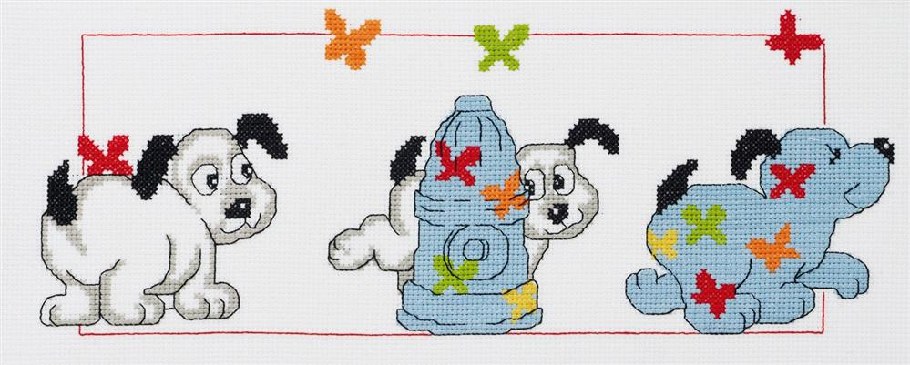 Permin Doggy Business Cross Stitch Kit