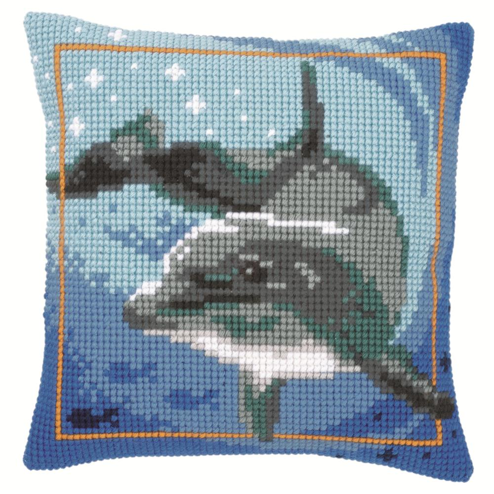 Vervaco Dolphin Cushion Cross Stitch Kit