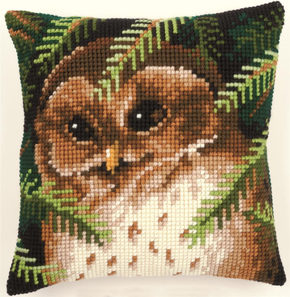 Vervaco Baby Owl Cushion Cross Stitch Kit