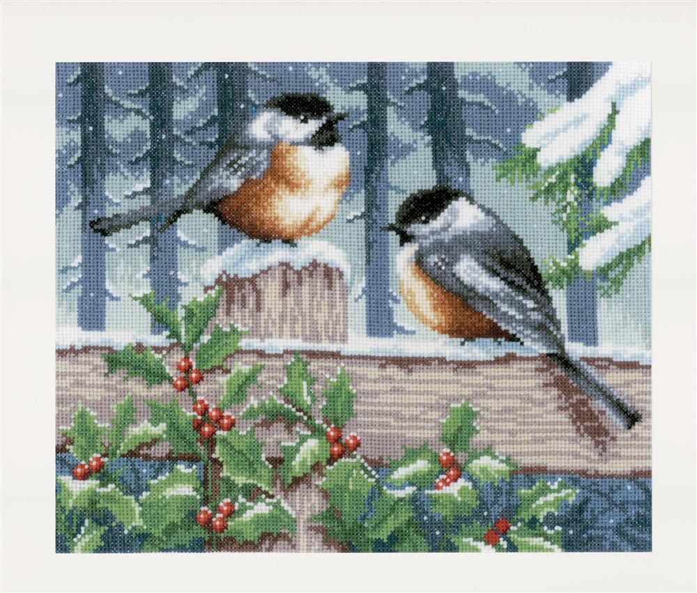 Vervaco Winter Bluetits Cross Stitch Kit