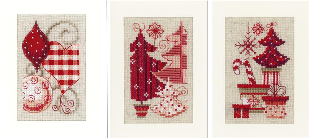 Vervaco Trees and Ornamentss Christmas Card Making Cross Stitch Kit