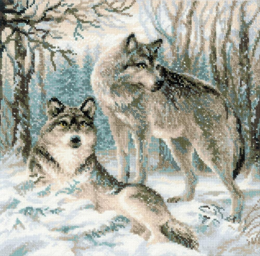 Pair of Wolves -  Christmas Cross Stitch Kit