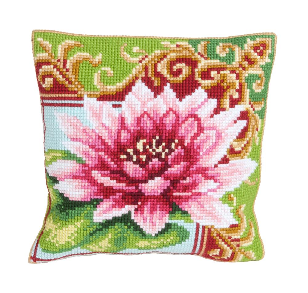 Collection D'Art Luxurious Lily 2 Cushion Cross Stitch Kit