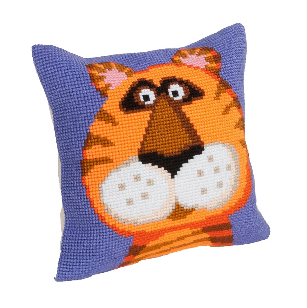 Collection D'Art Terence The Tiger Cushion Cross Stitch Kit