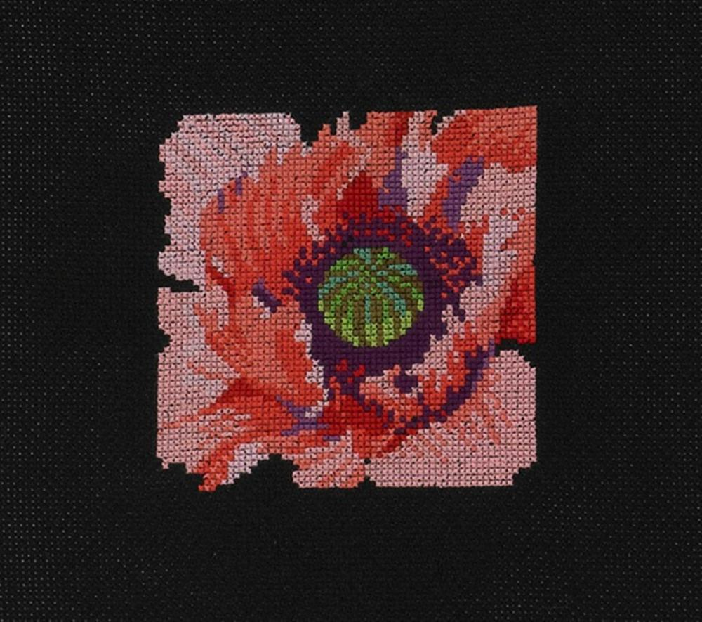 Permin Poppy in Close Up Cross Stitch Kit