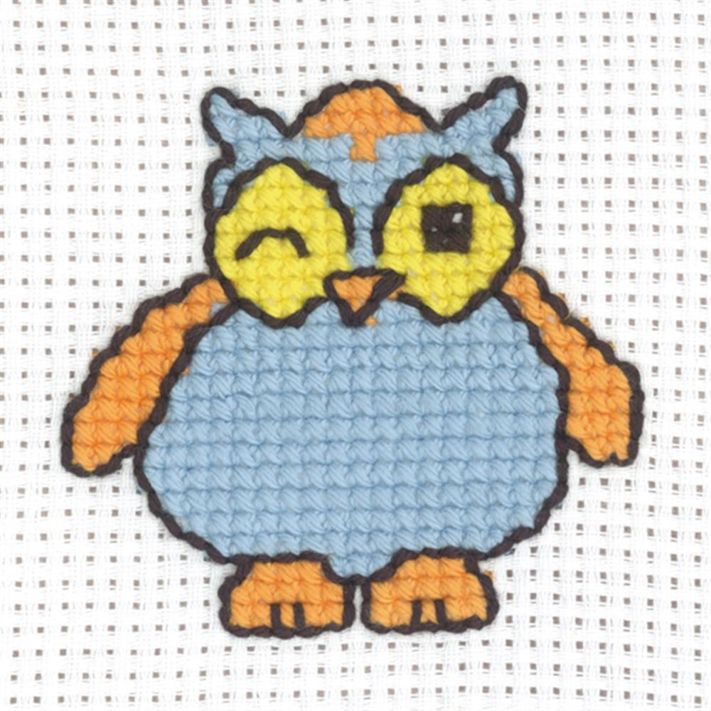 Permin Winking Owl Cross Stitch Kit