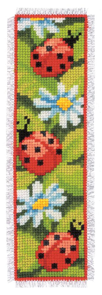 Vervaco Ladybird and Daisy Bookmark Cross Stitch Kit
