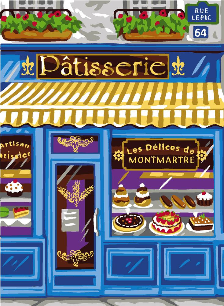 The Patisserie -  Tapestry Canvas
