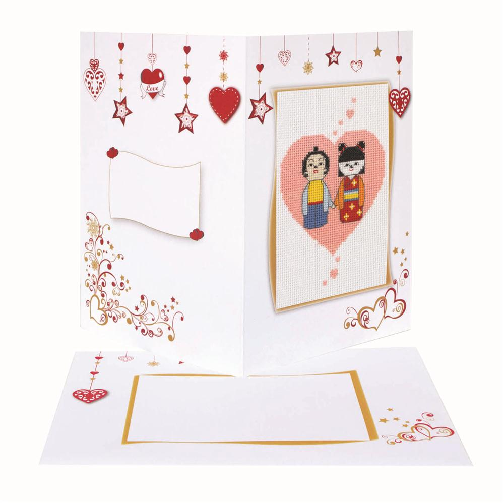 Valentines Card -  Cross Stitch Kit