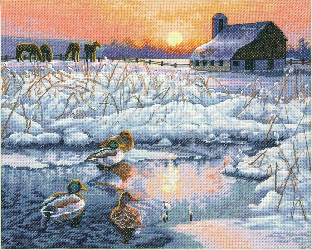 Winter Morning -  Christmas Cross Stitch Kit