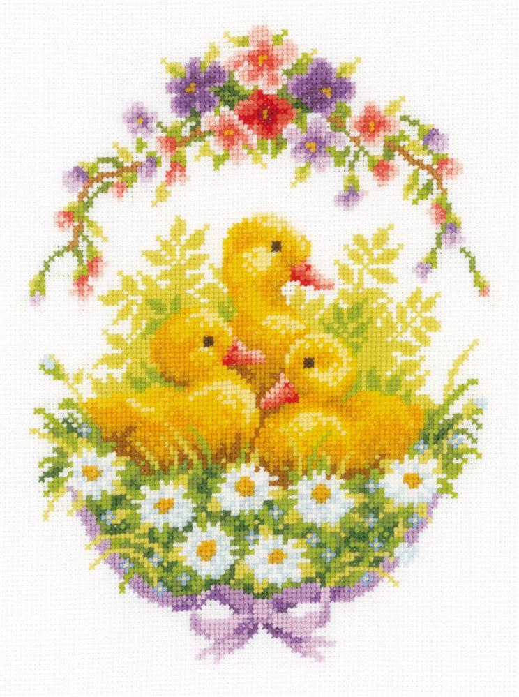 Vervaco Ducklings and Daisies Cross Stitch Kit