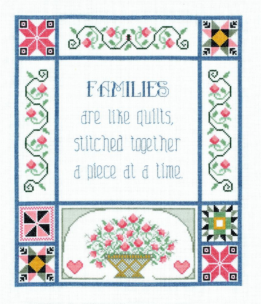 Janlynn Families are Like Quilts Cross Stitch Kit